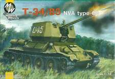 CHAR SOVIETIQUE T-34/85 NVA Type 63 - 1968 - KIT MILITARY WHEELS 1/72 n° 7210