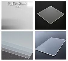 "CLEAR FROSTED ACRYLIC PLEXIGLASS .250"" x 12"" x 48"" PLASTIC SHEET"
