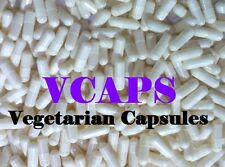 "VCAPS 1000 White Size ""2"" Empty Vegetarian Capsules (HPMC) No Gelatin"