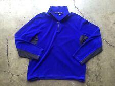 RLX Ralph Lauren Half Zip Fleece Pullover Sweater Jacket sz XL Blue Black