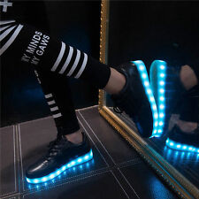 7 Colors Men Women LED Night Light Light Up Trainer Shoes High top Sneakers US12