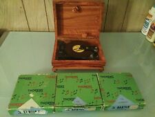 Thorens AD 30 Automatic Music Box w/15 Discs WORKS! Antique Made In Switzerland