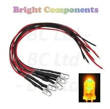 Candle/Flickering Pre-Wired Yellow LED 5mm : 9V ~ 12V : 1st CLASS POST
