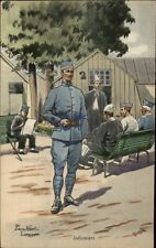 French Military Art Pierre Albert Leroux Card/Postcard INFIRMIERS #1