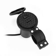 12V USB Port Motorcycle Charger Socket with Switch for iPhone GPS MP3