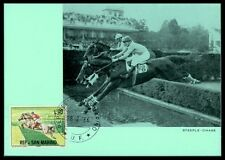 SAN MARINO MK 1966 REITEN REITSPORT PFERD PFERDE HORSE MAXIMUM CARD MC CM am35