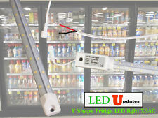 V shape 5ft walk in cooler Fridge LED tube light driver built-in wire AC direct