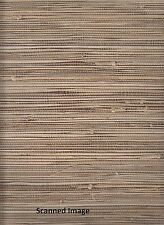 WALLPAPER BY THE YARD 89472 Natural Grasscloth Wallpaper Chestnut Brown Backgrou