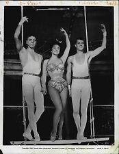 Burt Lancaster Gina Lollobrigida Tony Curtis Trapeze 1956 Press Wire Photo