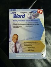 Video Professor Learn Word 3 CD Set Word 2000, 2002, 2003