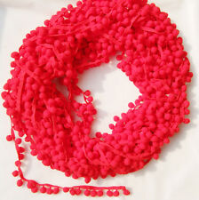 5Yards/Lot Red cute pompom fringe trim draper ball Accessories sew 0.8""
