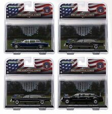 1:43 GreenLight *PRESIDENTIAL LIMOS* SERIES 1 Set of 4 KENNEDY OBAMA FORD REAGAN
