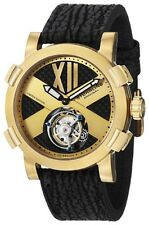 Stuhrling 407 333X31 Men's Tourbillon Mechanical Hand Wind SS & Black Watch