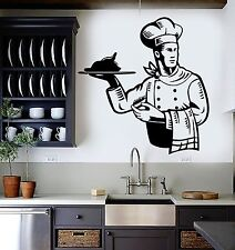 Wall Stickers Vinyl Decal Chef Restaurant For Kitchen Dish Cooking (ig1516)