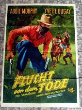 FLUCHT VOR DEM TODE / THE CIMARRON KID *AUDIE MURPHY - A1-Filmposter 1952 TOP