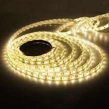 5M 16.4FT 5050 Super Bright Warm White LED Non-Waterproof Flexible Strip Light