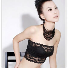Girls/Womens Sexy Lace Boob Tube/Bandeau, One Size (Small), UK Seller, BNWT