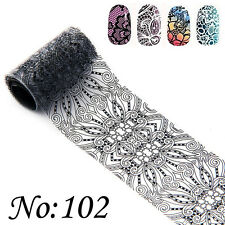 Lace Style Nail Art Transfer Foil Nail Stickers Polish Decal Tip Decoration B102
