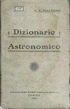 Callegari Dizionario Astronomico 1922 Astronomia