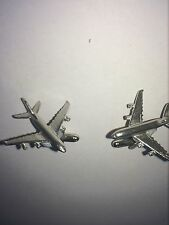 Airbus A380 C64 Aircraft Jet Airliner Fine English Pewter Cufflinks