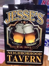 Man Cave Sign Personalized Metal Sign Bar Pub Sign Tavern Sign Metal