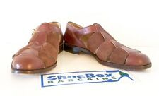 MORESCHI Brown Leather + Suede Italian Dress Sandals Size 10.