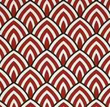 Outdoor/ Indoor ~ Upholstery ~ART DECO ~ Red Black & White ~ Fabric~1/4 yard