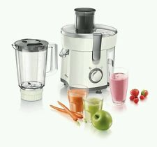 Philips Viva HR1845/33, 2 in 1 Fruit & Vegetable Juicer and Blender White - New
