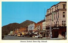 Canon City Colorado~Street Scene~Hotel~Rex~Davis Paints~Liquor Store~50s Cars