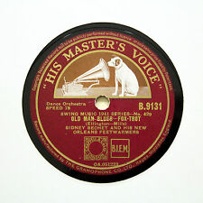 "SIDNEY BECHET & HIS NEW ORLEANS FEETWARMERS ""Old Man Blues"" HMV B-9131 [78 RPM]"