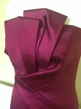 EXQUISITE LIMITED EDITION KAREN MILLEN MAGENTA RED SATIN MAXI DRESS UK 16