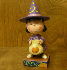 """Jim Shore PEANUTS 4045888 LUCY HALLOWEEN WITCH """"Trick or Treat"""" From Retail Shop"""
