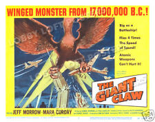 THE GIANT CLAW LOBBY TITLE CARD POSTER 1957 JEFF MORROW MARA CORDAY