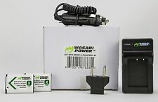 Wasabi Power  2 Batteries, Wall and Car Chargers for Sony NP-BX1 Free Shipping