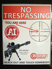 GUN STICKER `NO TRESPASSING, ACCURACY INTERNATIONAL RIFLES WARNING STICKER
