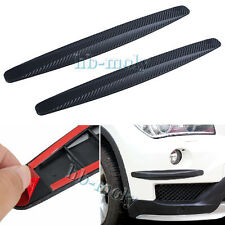 2pcs General Car SUV Carbon Fiber Anti-rub Protector Body Corner Bumper Guard