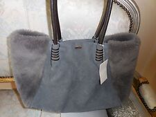 $ nwt uggs handbag suede /shearling/leather Tote LAST ONE