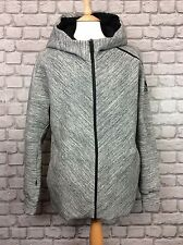 ADIDAS MENS UK L Z.N.E HEATHER GREY BLACK TRAVEL FULL ZIP HOODIE RRP £99.99 ZNE