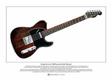 George Harrison's Rosewood Telecaster Limited Edition Fine Art Print A3 size
