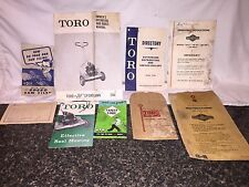 1958 Toro 20 Sportlawn Lawn Mower Manual And Brochures, Original Packaging.