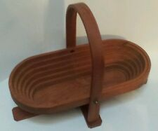 Once A Tree Expandable Wood Bowl for fruit or bread Made In Camden, Maine Usa