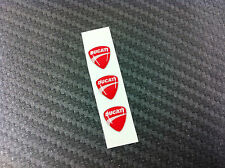 3 Adesivi Stickers New DUCATI Red 3D resinato 1 cm.