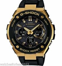 ONE DAY SALE NOW NEW  GSTS100G-1A GOLD&BLACK/DIAL SOLAR POWERED/SHOCK RESIST