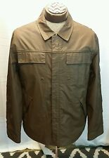 Mens Cole Haan Jacket M Brown Full Zipper Waterproof Size Medium