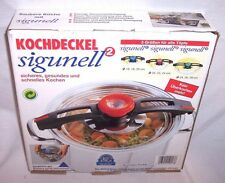 NEW IN BOX ! Sigunell cooking lid for 20, 22, 24 cm pots - for fast cooking