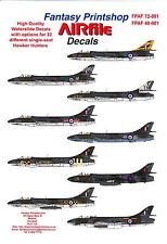 Airfile Decals 1/48 HAWKER HUNTER SINGLE SEAT FIGHTERS IN R.A.F. SERVICE