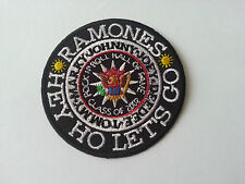 HEAVY METAL PUNK ROCK MUSIC SEW / IRON ON PATCH:- RAMONES (a) HEY HO LETS GO