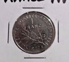CIRCULATED 1977 1 FRANC FRENCH COIN (91216)