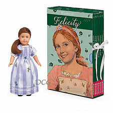 American Girl Book FELICITY BOXED SET & MINI DOLL Board Game 6 Paperback NEW