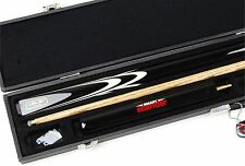 Riley Black TRIUMPH 2pc Ash Snooker Cue, RILEY CASE & Smart Extension Set